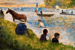 Georges Pierre Seurat - Horse and Boats