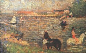 Georges Pierre Seurat - Horses in the Water