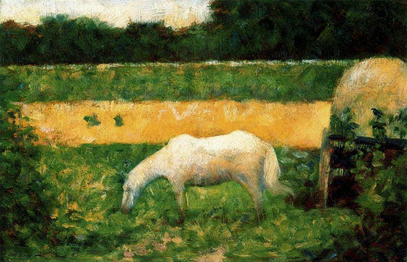famous painting Landscape with Horse of Georges Pierre Seurat
