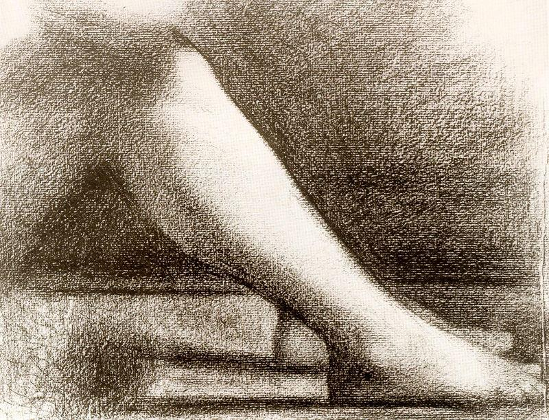 famous painting Leg of Georges Pierre Seurat