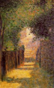Georges Pierre Seurat - Paris, Rue Saint-Vincent in Spring
