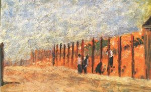 Georges Pierre Seurat - Peasants Driving Stakes