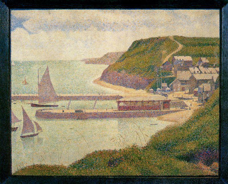 famous painting Port-en-Bessin, Outer Harbor, High Tide of Georges Pierre Seurat