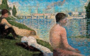 Georges Pierre Seurat - Seated Bather
