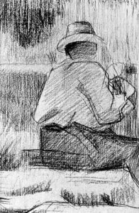 Georges Pierre Seurat - Seated Man