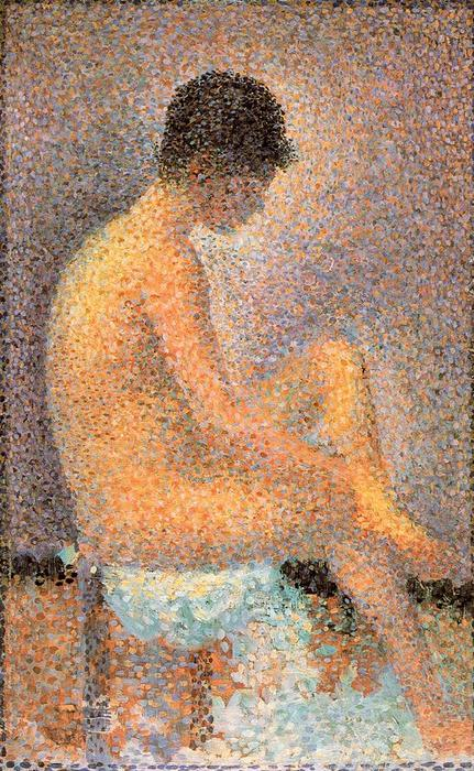 famous painting Seated Model in profile of Georges Pierre Seurat