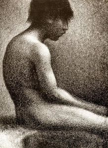 Georges Pierre Seurat - Seated Nude