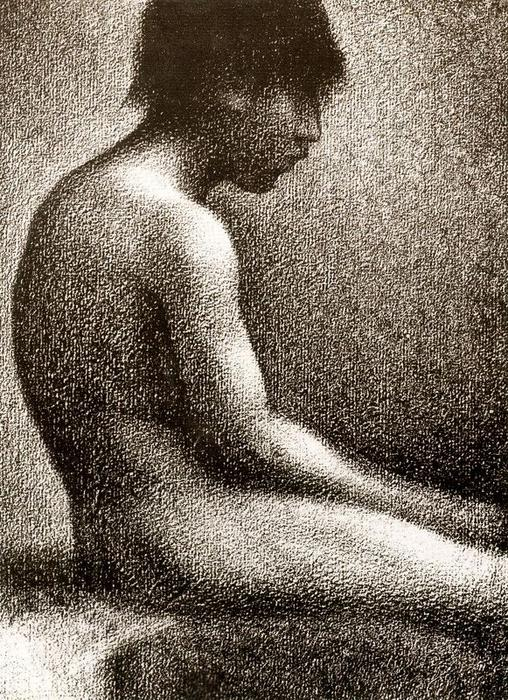 famous painting Seated Nude of Georges Pierre Seurat