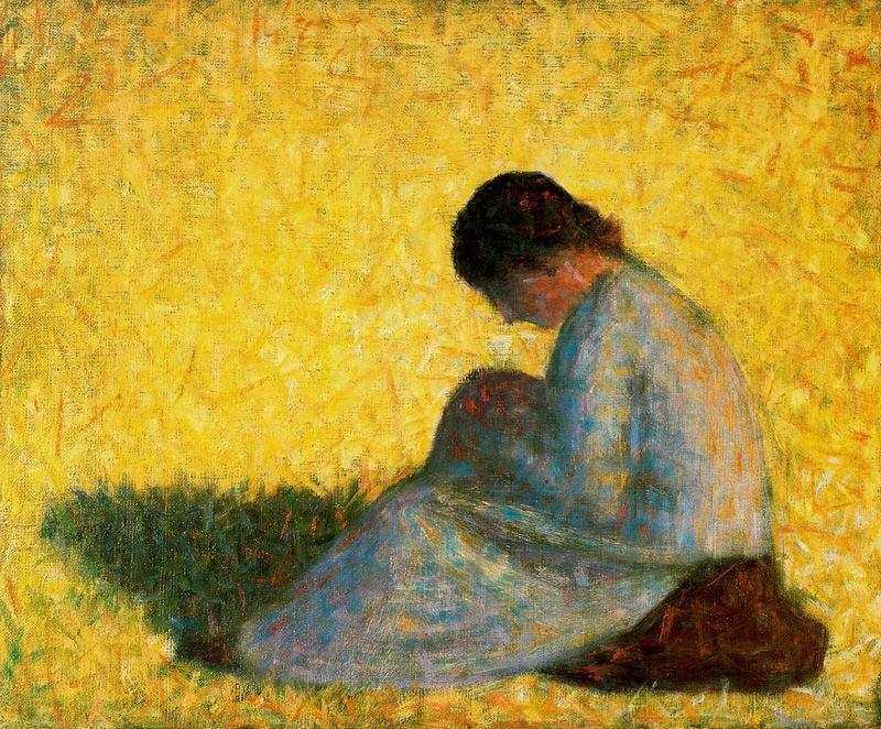 famous painting Seated Woman of Georges Pierre Seurat