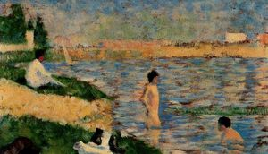 Georges Pierre Seurat - Study for ''A Bathing Place at Asnières''