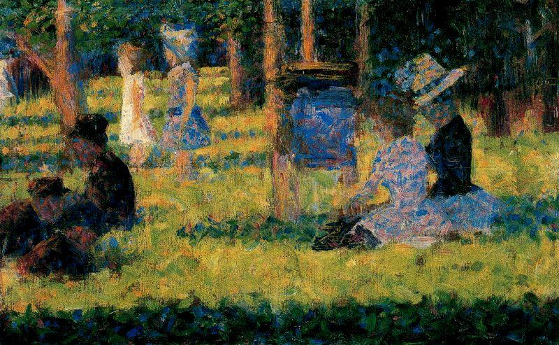 famous painting Study for ''A Sunday on the Grande Jatte'' of Georges Pierre Seurat