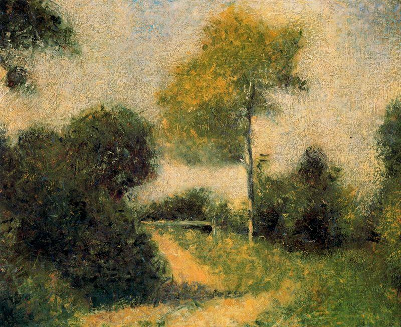 famous painting The Clearing of Georges Pierre Seurat