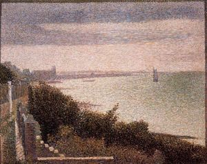 Georges Pierre Seurat - The English Channel at Grandcamp