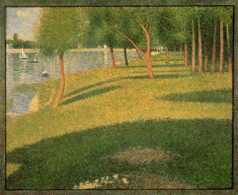 famous painting The Island of La Grande Jatte of Georges Pierre Seurat