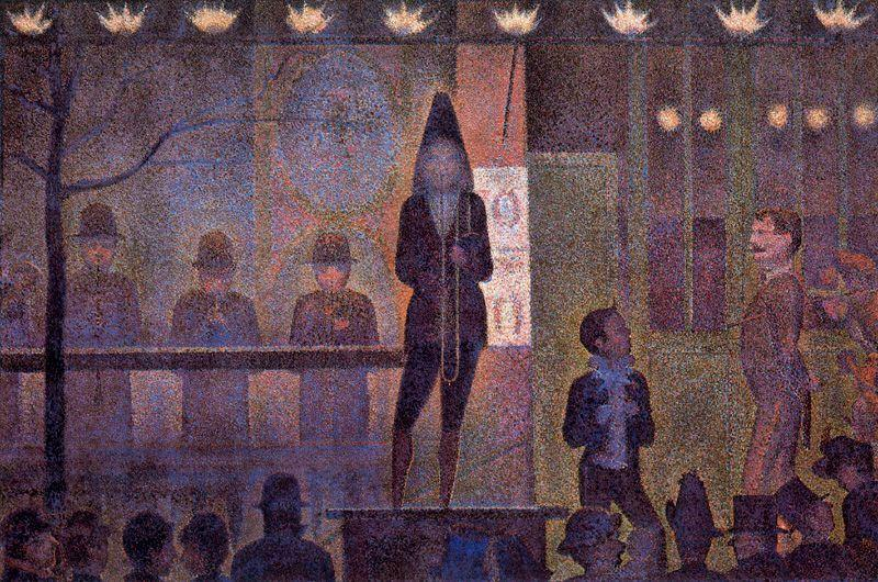 famous painting The Sideshowed of Georges Pierre Seurat
