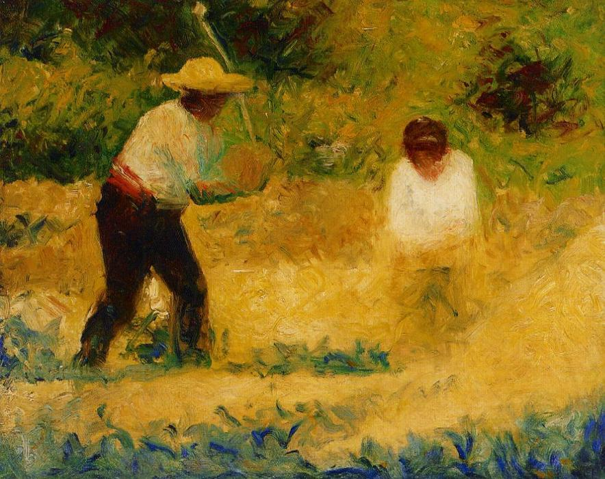 famous painting The Stone Breaker 2 of Georges Pierre Seurat
