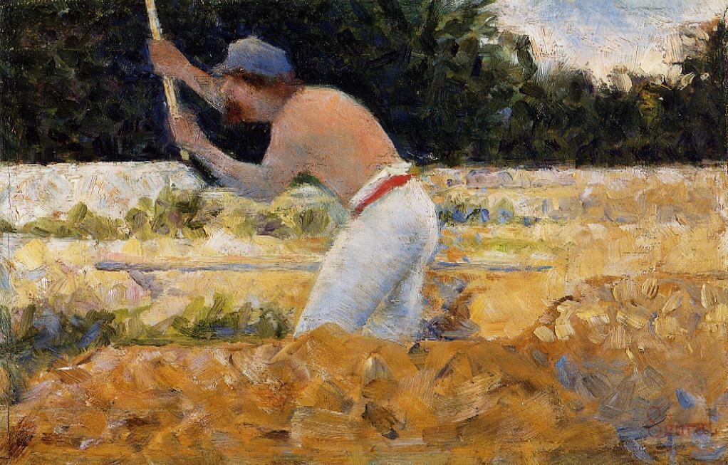 famous painting The Stone Breaker 3 of Georges Pierre Seurat
