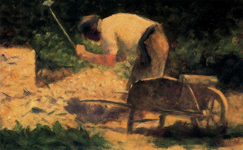 famous painting The Stone Breaker of Georges Pierre Seurat