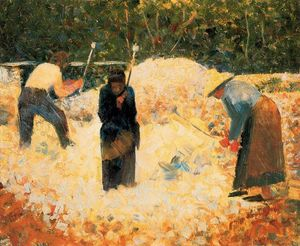 Georges Pierre Seurat - The Stone Breakers, Le Raincy