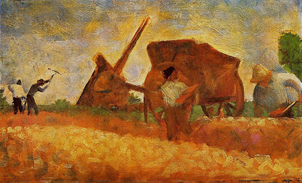 famous painting The Stone Breakers of Georges Pierre Seurat