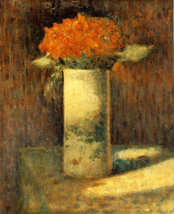 famous painting Vase of Flowers of Georges Pierre Seurat
