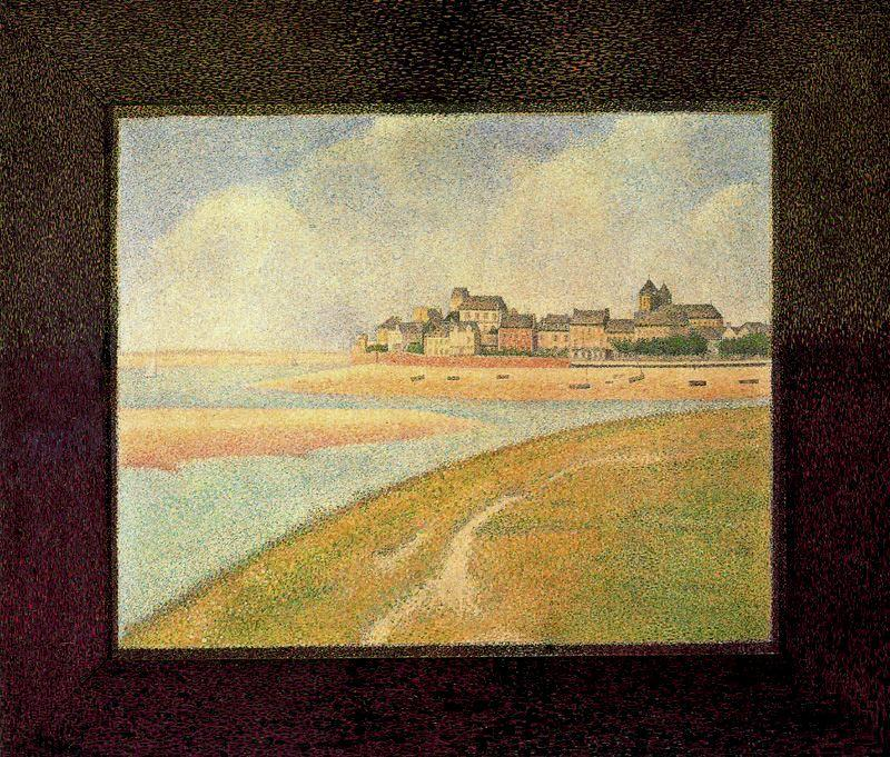 famous painting View of Crotoy from Upstream of Georges Pierre Seurat