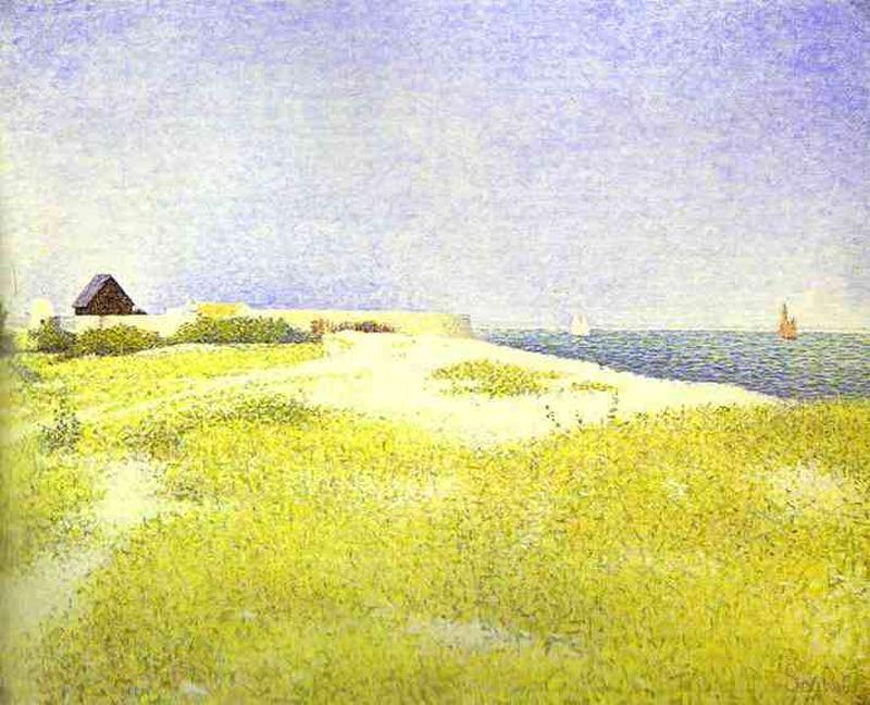 famous painting View of Fort samson, Grandcamp of Georges Pierre Seurat