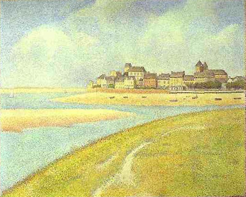 famous painting View of Le Crotoy from Upstream of Georges Pierre Seurat