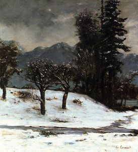 Gustave Courbet - Snow