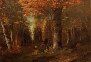 Gustave Courbet - The Forest in Autumn
