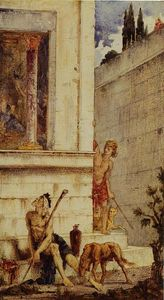 Gustave Moreau - The Wicked Rich and the Poor Lazarus