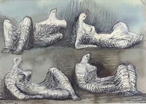 Henry Moore - Four reclining figures 2