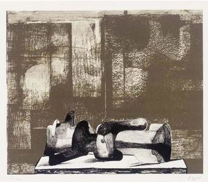 Henry Moore - Reclining Figure - Architectural Background IV