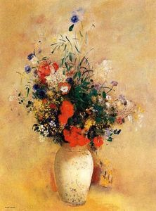 Odilon Redon - Flowers In A Chinese Base