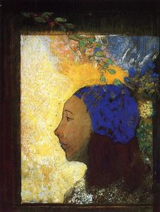 Odilon Redon - Young Girl in a Blue Bonnet
