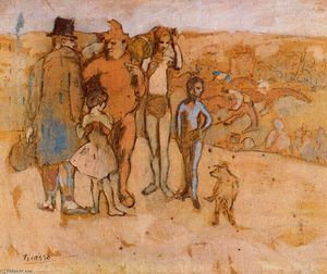 Pablo Picasso - Family of acrobats