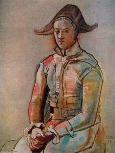 Pablo Picasso - Harlequin seated