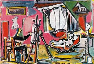 Pablo Picasso - The painter and his model 21