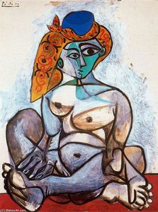 Pablo Picasso - Turkish nude woman with hat