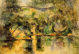 Paul Cezanne - Reflections in the Water