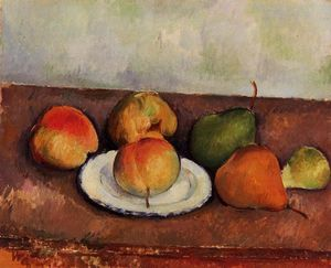 Paul Cezanne - Still Life Plate and Fruit