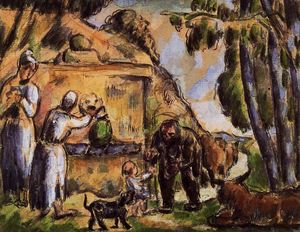 Paul Cezanne - The Fountain