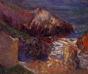 Paul Gauguin - Rocks on the coast