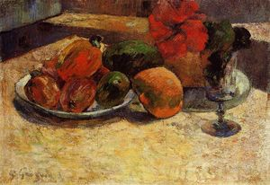 Paul Gauguin - Still Life with Mangoes and Hisbiscus