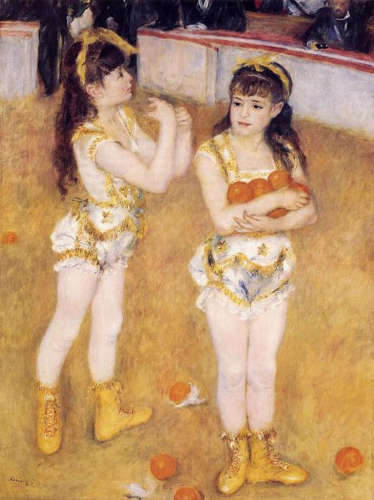 famous painting Acrobats at the Cirque Fernando (aka Francisca and Angelina Wartenberg) of Pierre-Auguste Renoir