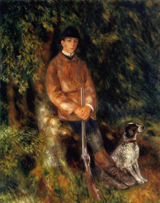 famous painting Alfred Berard and His Dog of Pierre-Auguste Renoir