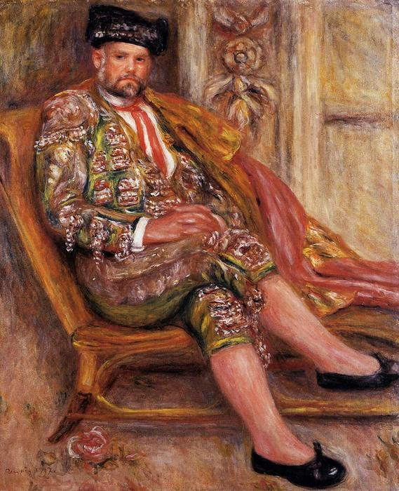famous painting Ambroise Vollard Dressed as a Toreador of Pierre-Auguste Renoir