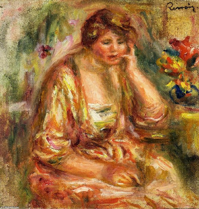 famous painting Andree in a Pink Dress of Pierre-Auguste Renoir