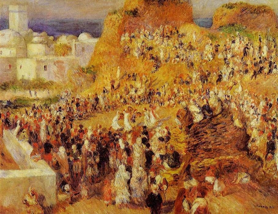 famous painting Arab Festival in Algiers (aka The Casbah) of Pierre-Auguste Renoir