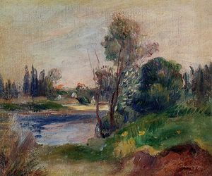 Pierre-Auguste Renoir - Banks of a River 1